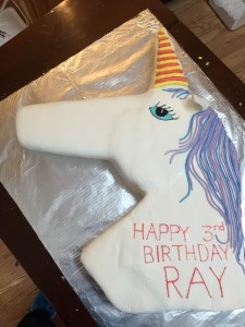 Customized sheet cakes for your's or your kid's birthday parties! There was even a fun rainbow filling for this delicious unicorn cake!