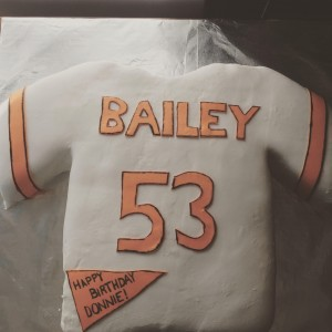 Do you love your sports team and want to show it? Get a jersey cake for your special occasion or just to watch the game!