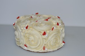 Rosette cake for your sweet on Valentine's Day!