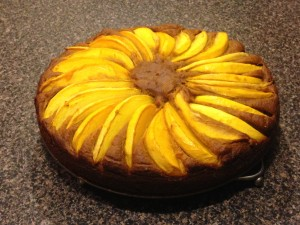 Mango-Pumpkin Cake - great with a scoop of vanilla ice cream!